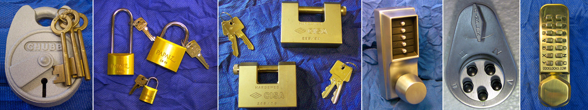 Padlocks, digital locks and code locks