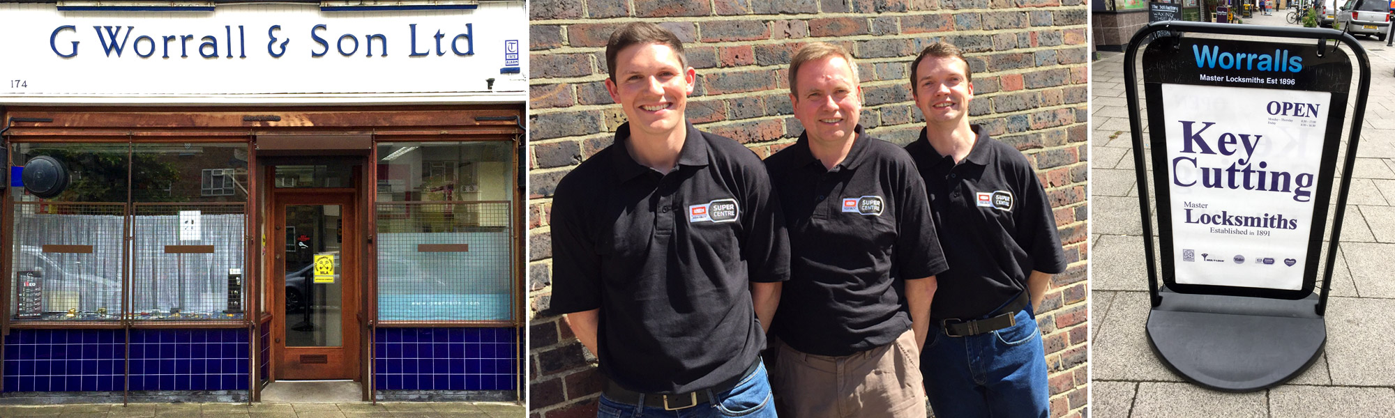 Contact the professional locksmiths at G Worrall & Son