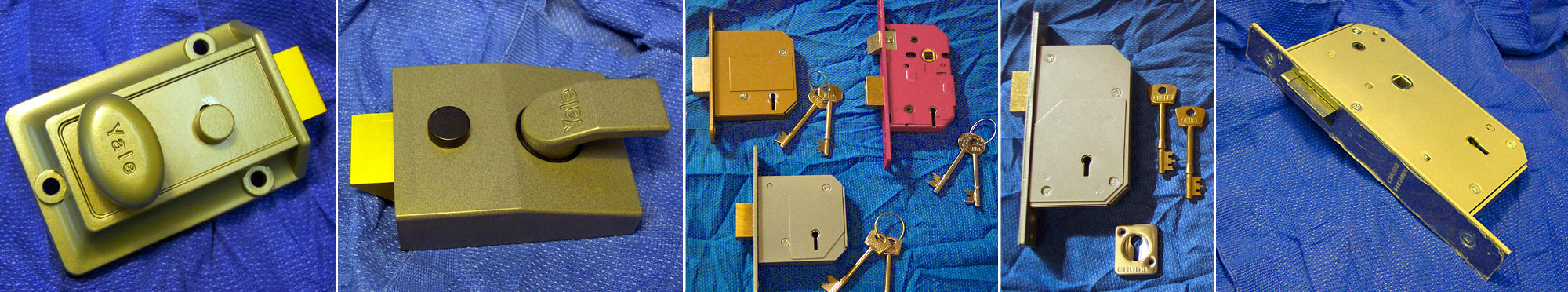 Rim locks, mortice locks, dead locks and latch locks
